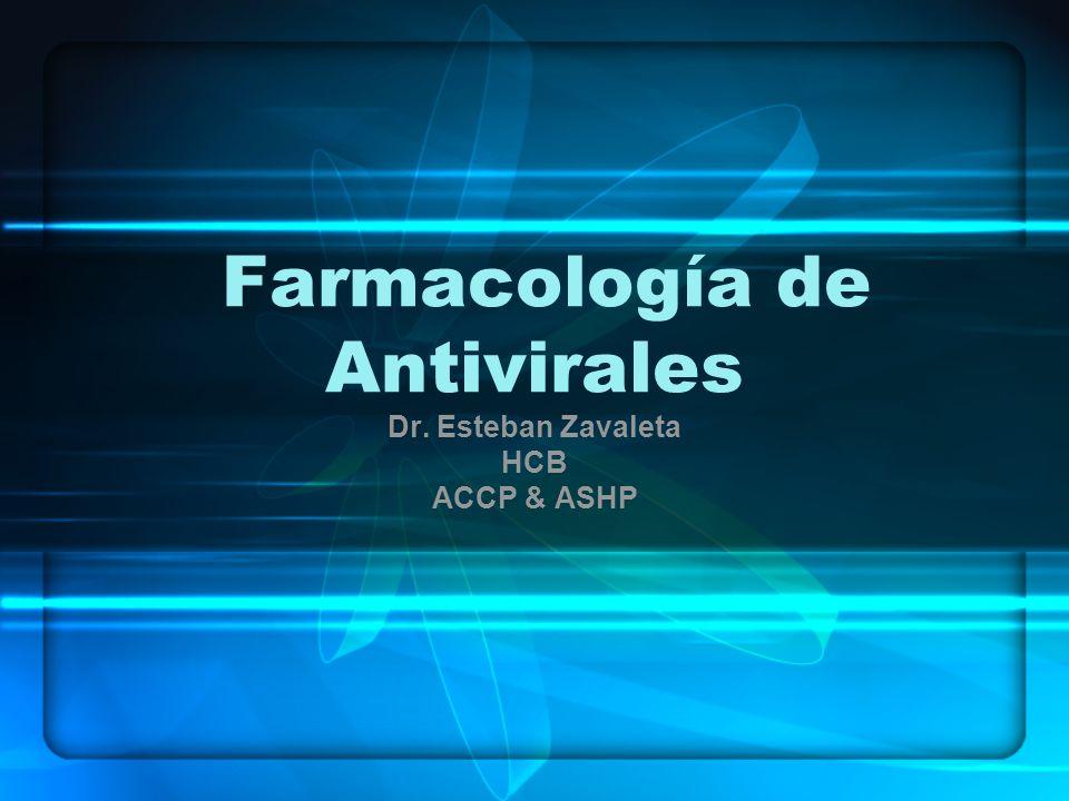 Farmacología de Antivirales Dr. Esteban Zavaleta HCB ACCP & ASHP