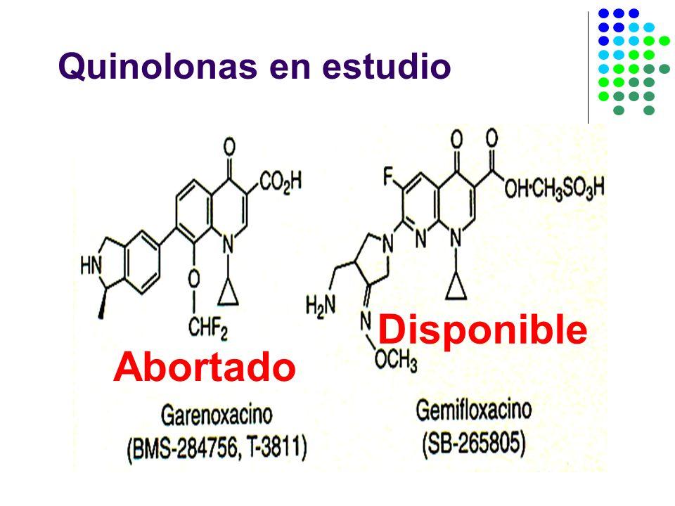 Quinolonas en estudio Abortado Disponible