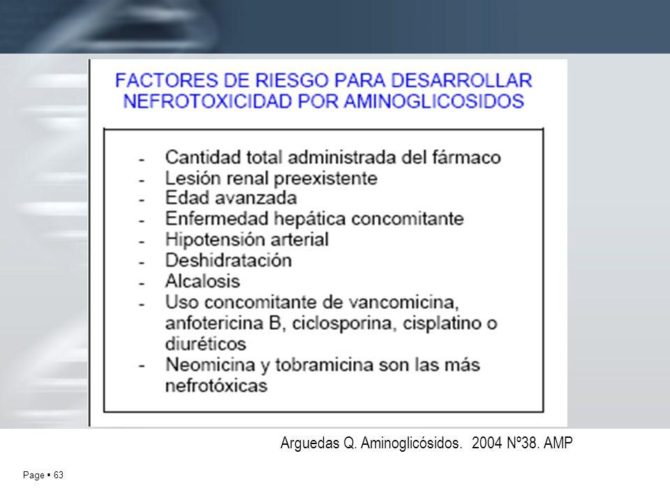 Page 63 Arguedas Q. Aminoglicósidos. 2004 Nº38. AMP