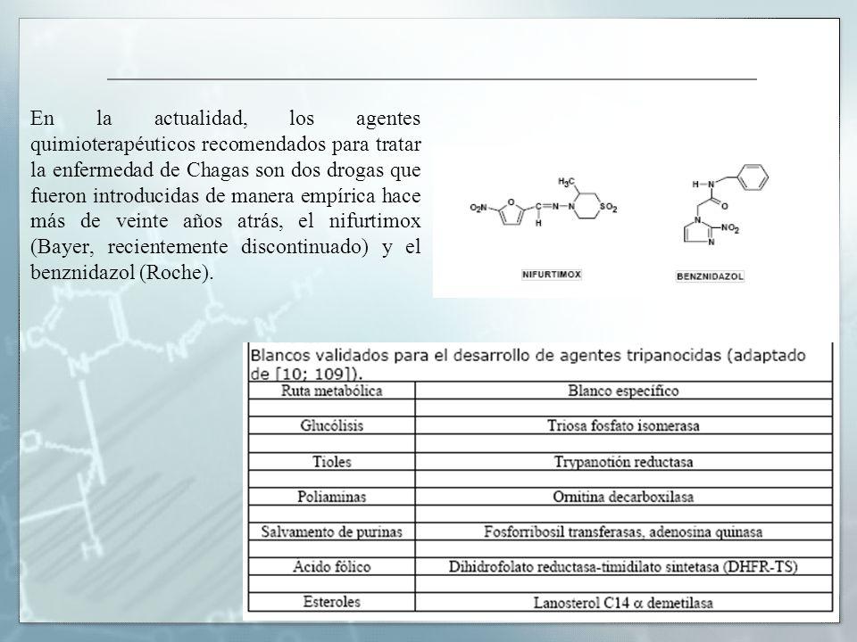 En la actualidad, los agentes quimioterapéuticos recomendados para tratar la enfermedad de Chagas son dos drogas que fueron introducidas de manera emp