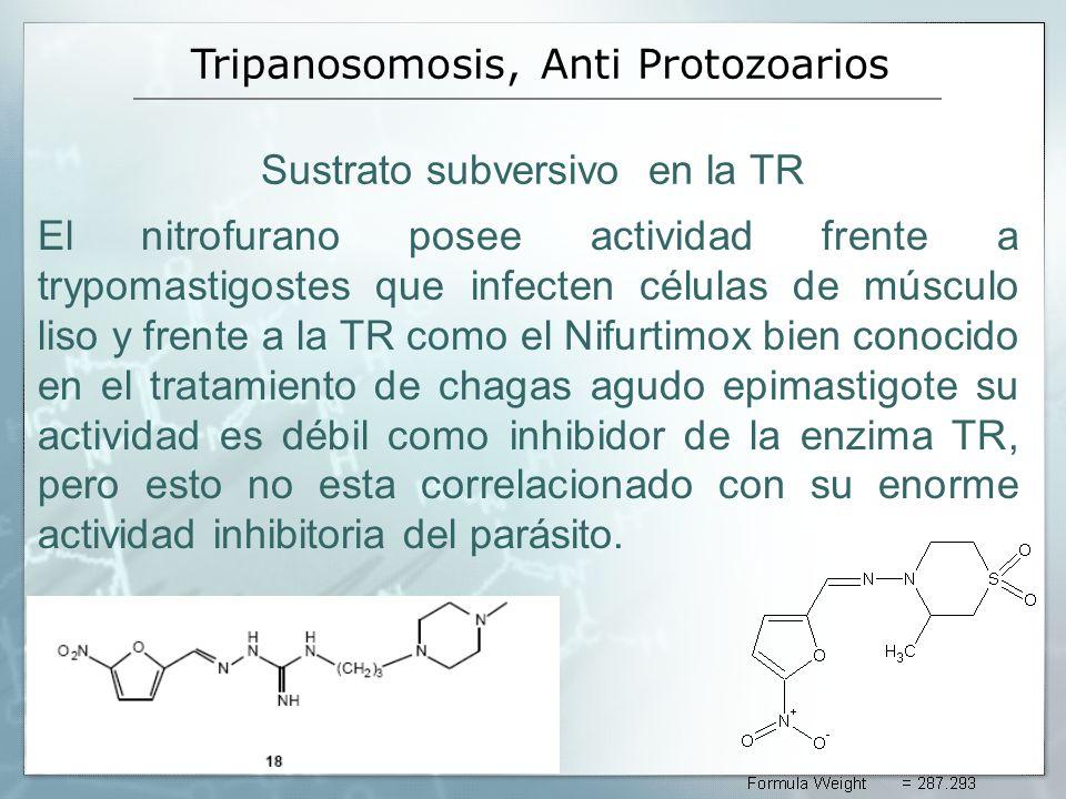 Sustrato subversivo en la TR El nitrofurano posee actividad frente a trypomastigostes que infecten células de músculo liso y frente a la TR como el Ni