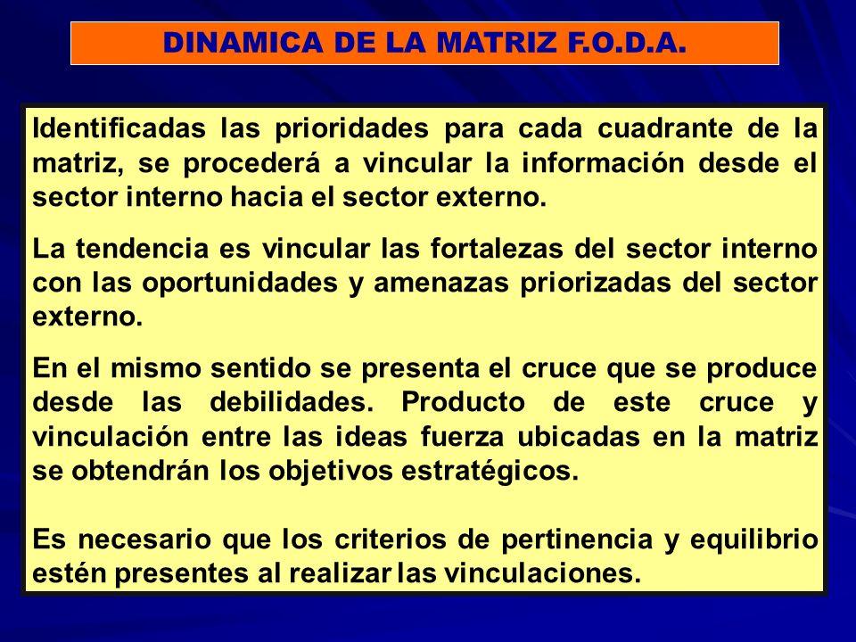 DINAMICA DE LA MATRIZ F.O.D.A.