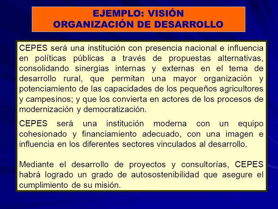 Tercera vinculación: Debilidades con Oportunidades Tercer Objetivo Estratégico: (D1, D3, - O2, O3) D1: La inestabilidad institucional y financiera de algunas ONG socias afecta el trabajo conjunto que realizamos con los campesinos.
