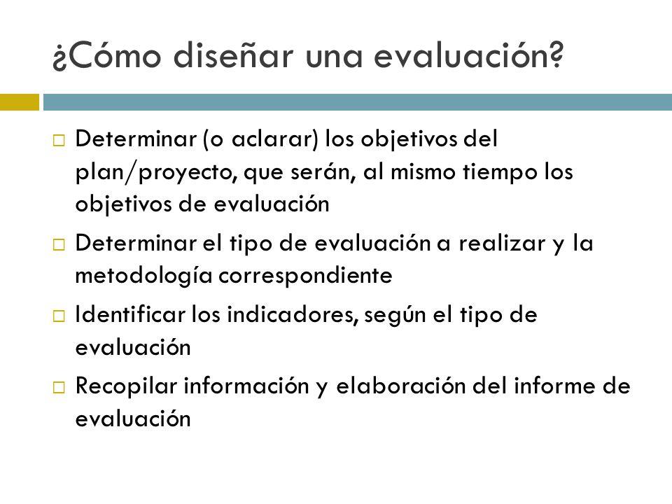 ¿Cómo diseñar una evaluación.