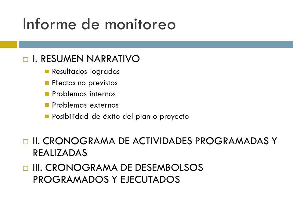Informe de monitoreo I.