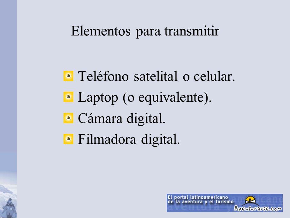 Elementos para transmitir Teléfono satelital o celular.