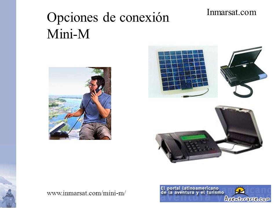 Inmarsat.com Opciones de conexión Mini-M www.inmarsat.com/mini-m/
