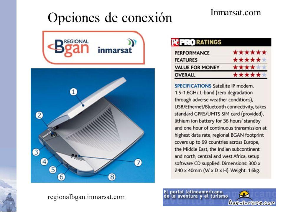 Inmarsat.com Opciones de conexión regionalbgan.inmarsat.com