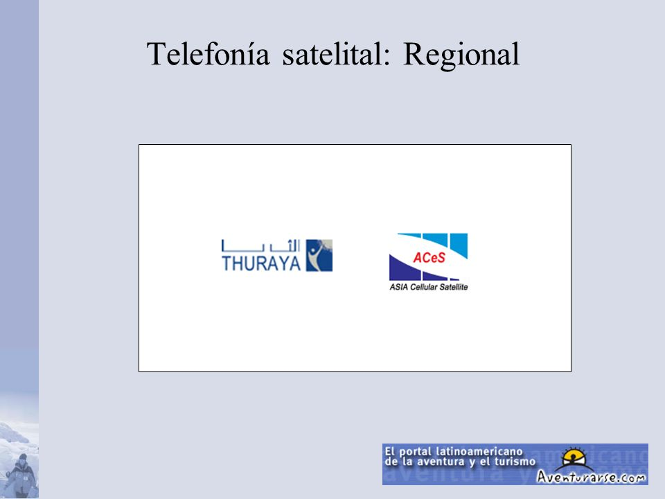 Telefonía satelital: Regional