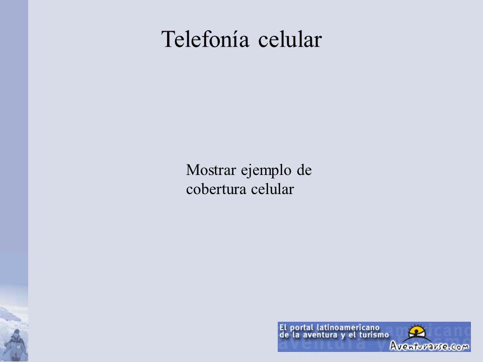 Mostrar ejemplo de cobertura celular Telefonía celular
