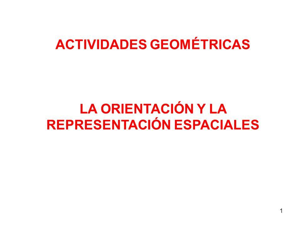 1 ACTIVIDADES GEOMÉTRICAS LA ORIENTACIÓN Y LA REPRESENTACIÓN ESPACIALES