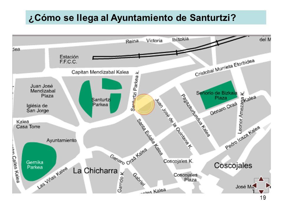19 ¿Cómo se llega al Ayuntamiento de Santurtzi?