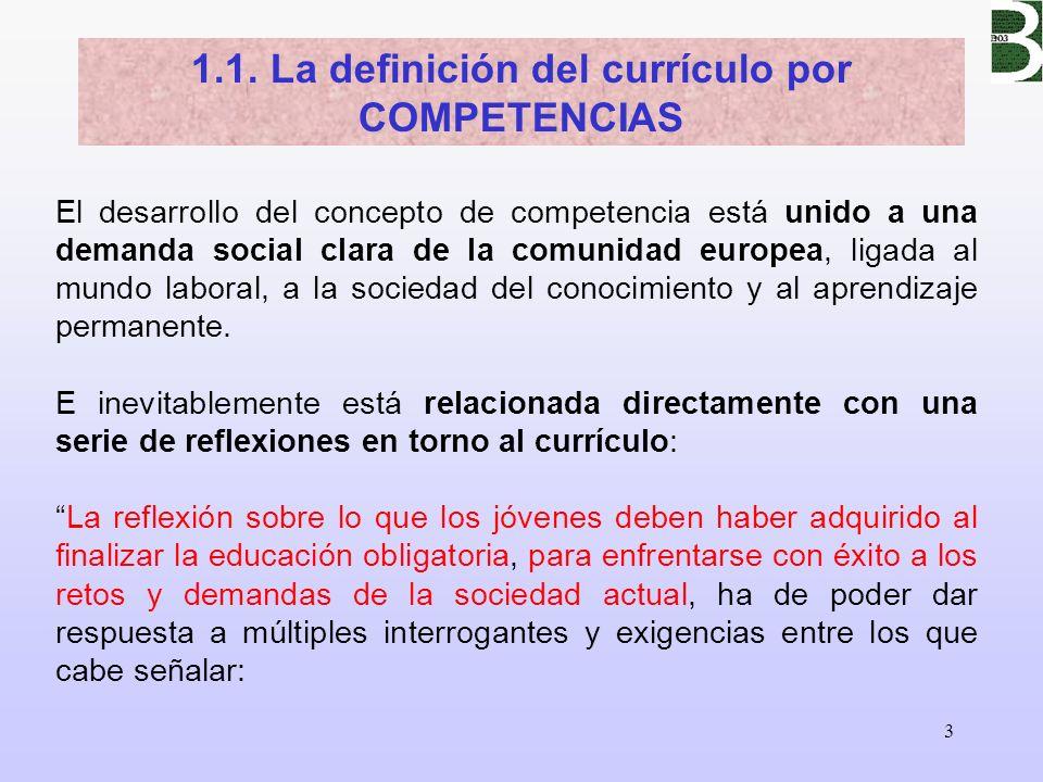 3 El desarrollo del concepto de competencia está unido a una demanda social clara de la comunidad europea, ligada al mundo laboral, a la sociedad del
