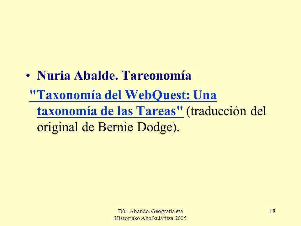 B01 Abando. Geografia eta Historiako Aholkularitza.2005 18 Nuria Abalde.