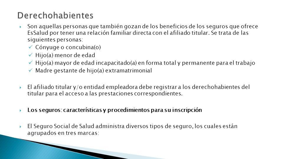 Son aquellas personas que también gozan de los beneficios de los seguros que ofrece EsSalud por tener una relación familiar directa con el afiliado ti