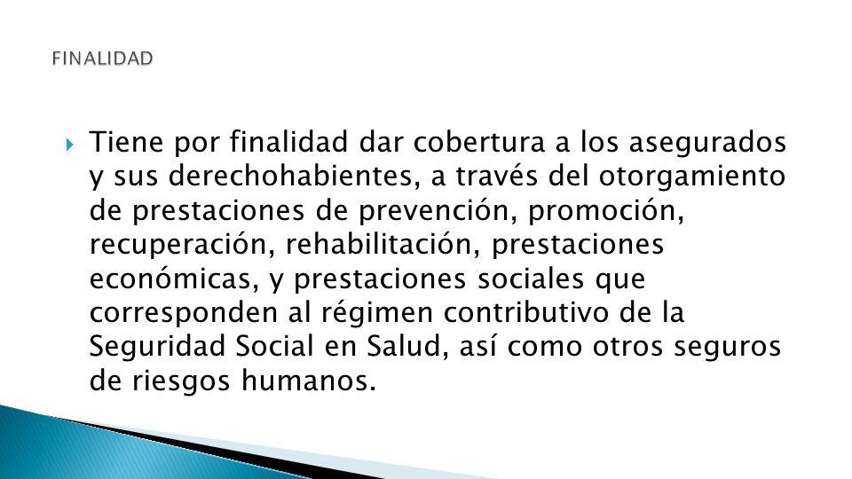 Administra el régimen contributivo de la Seguridad Social en Salud y otros seguros de riesgos humanos.