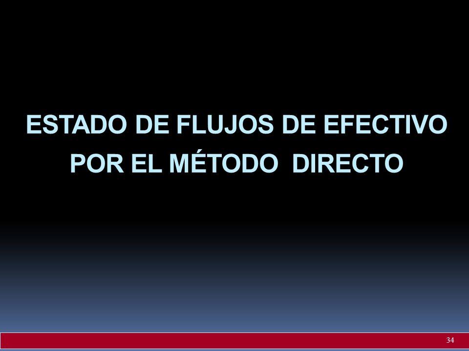 ESTADO DE FLUJOS DE EFECTIVO POR EL MÉTODO DIRECTO 34