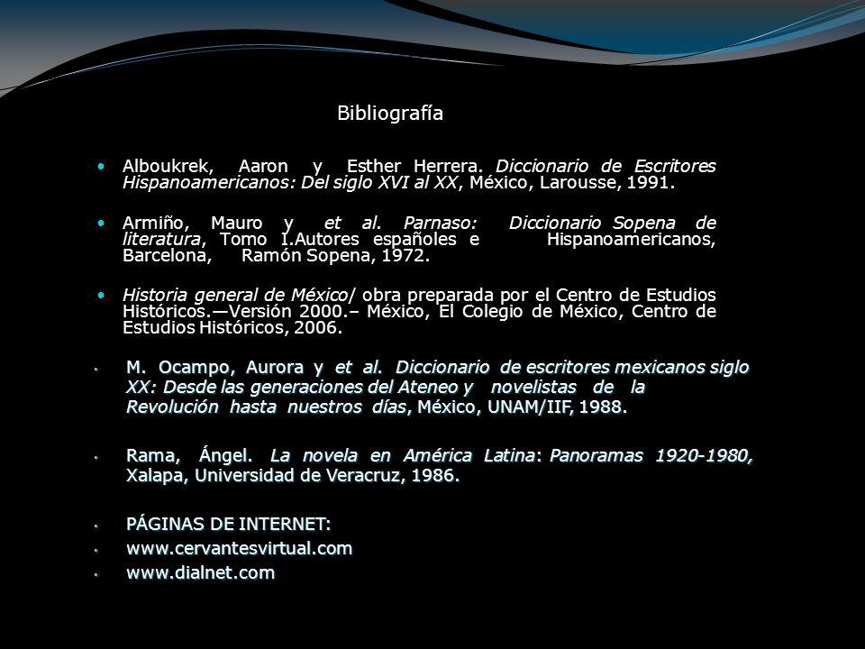 Alboukrek, Aaron y Esther Herrera. Diccionario de Escritores Hispanoamericanos: Del siglo XVI al XX, México, Larousse, 1991. Armiño, Mauro y et al. Pa