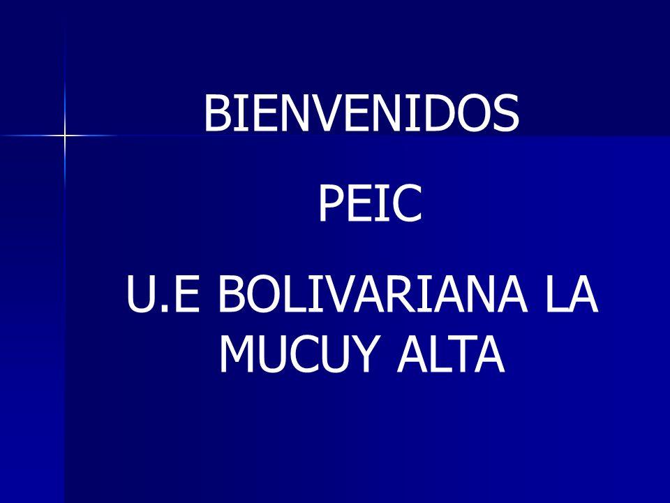 Republica Bolivariana de Venezuela Ministerio del Poder Popular para la Educación Núcleo Escolar Rural 022 Tabay Estado Mérida Proyecto Educativo Integral Comunitario U.E Bolivariana La Mucuy Alta Titulo: Unidos Escuela-Familia-Comunidad lograremos mejorar nuestro proceso educativo.