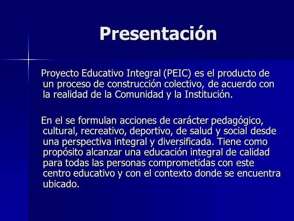 Fundamentos legales del (PEIC) Constitución de la Republica Bolivariana de Venezuela (CRBV) 1999.