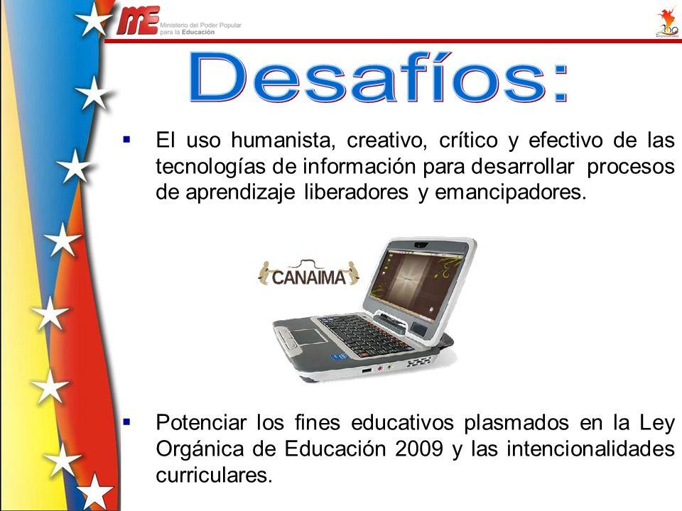El uso humanista, creativo, crítico y efectivo de las tecnologías de información para desarrollar procesos de aprendizaje liberadores y emancipadores.