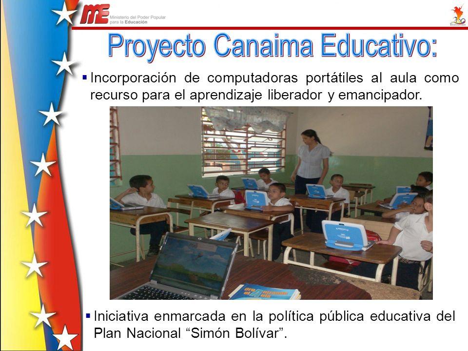 Incorporación de computadoras portátiles al aula como recurso para el aprendizaje liberador y emancipador. Iniciativa enmarcada en la política pública