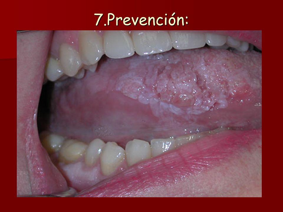 7.Prevención: Es muy importante el hecho de que muchos de los agentes que se consideran cancerígenos son manejables por el hombre. En este sentido, al