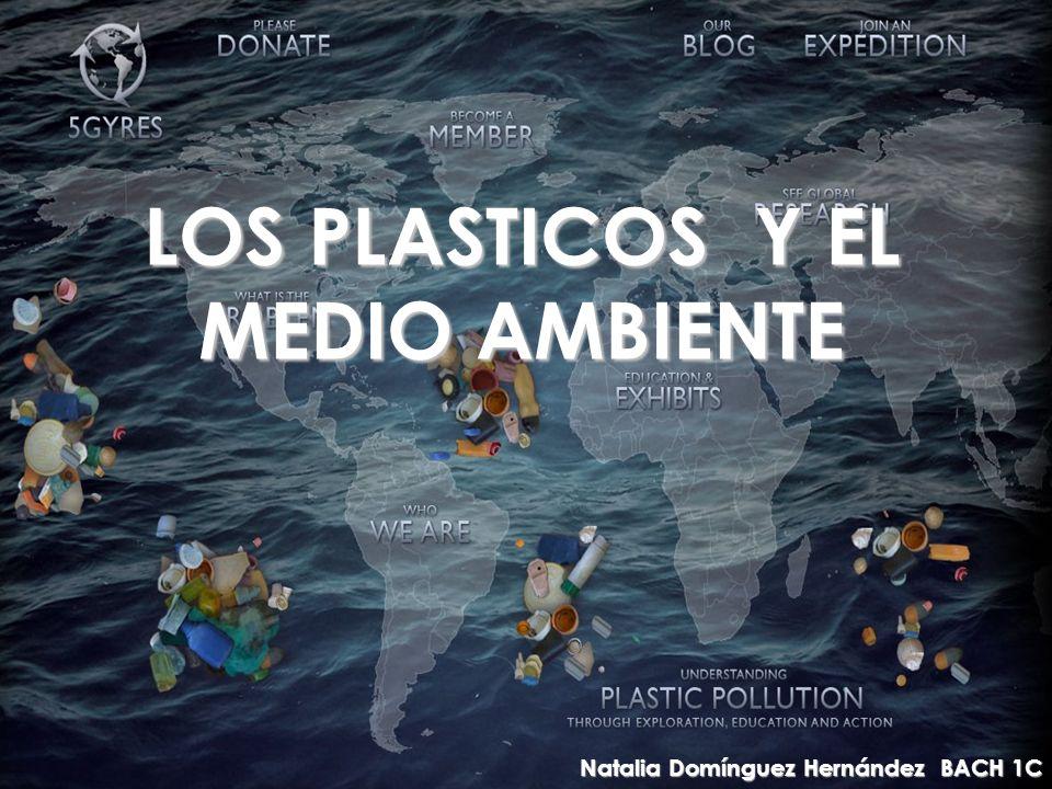 LOS PLASTICOS Y EL MEDIO AMBIENTE Natalia Domínguez Hernández BACH 1C