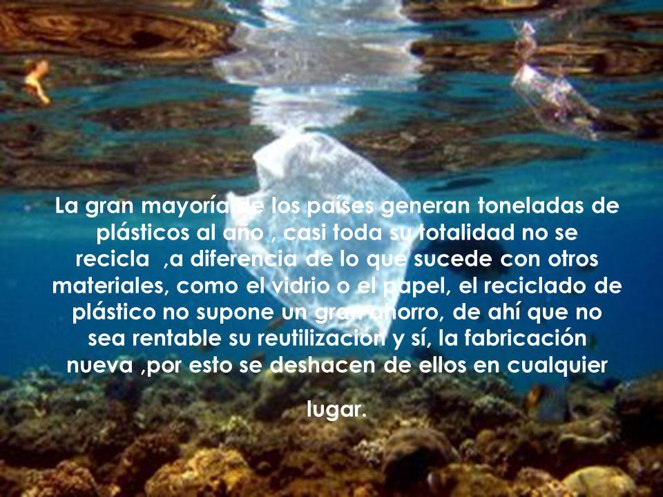 Normalmente, estos plásticos acaban en el mar.