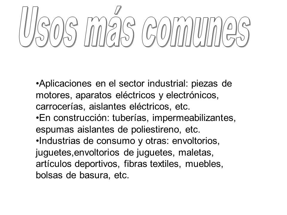 Aplicaciones en el sector industrial: piezas de motores, aparatos eléctricos y electrónicos, carrocerías, aislantes eléctricos, etc. En construcción: