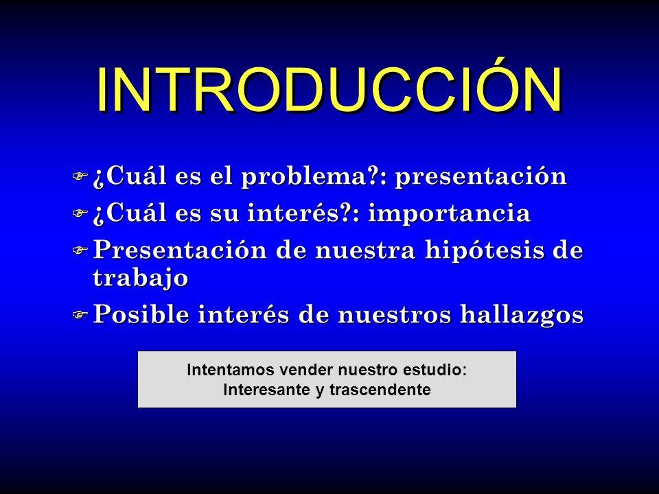 INTRODUCCIÓN F ¿Cuál es el problema?: presentación F ¿Cuál es su interés?: importancia F Presentación de nuestra hipótesis de trabajo F Posible interé