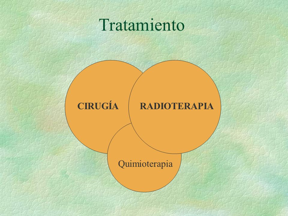 Tratamiento CIRUGÍARADIOTERAPIA Quimioterapia