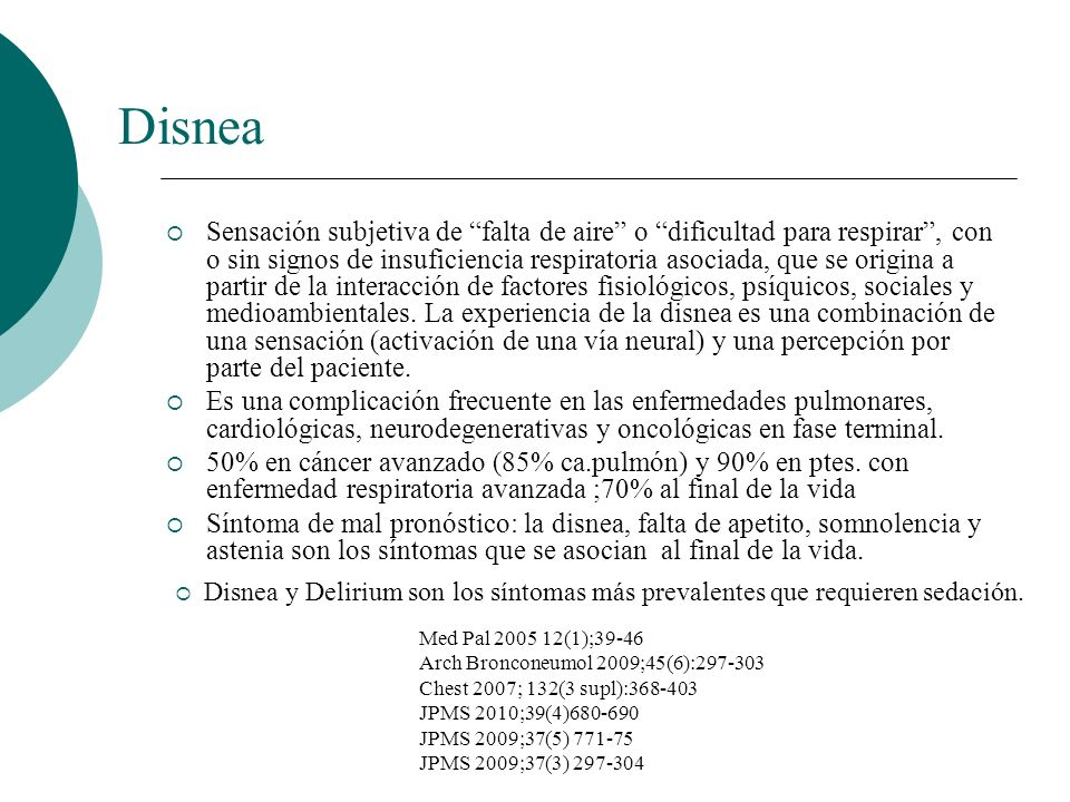 Disnea: Diagnóstico Valorar etiología: descartar las causas potencialmente reversibles.