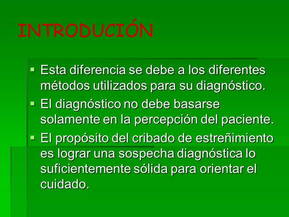 INTRODUCIÓN Esta diferencia se debe a los diferentes métodos utilizados para su diagnóstico. Esta diferencia se debe a los diferentes métodos utilizad