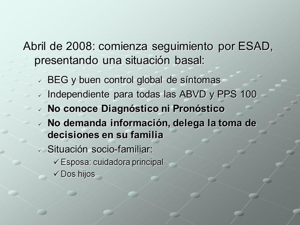HISTORIA ONCOLÓGICA Diagnosticado en febrero de 2008, mediante laparotomía exploradora de Adenocarcinoma Gástrico invasivo e irresecable Diagnosticado