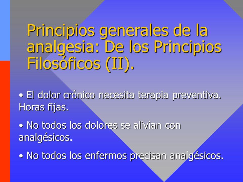 Principios generales de la analgesia: De los Principios Filosóficos (II).
