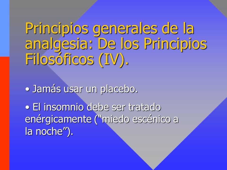 Principios generales de la analgesia: De los Principios Filosóficos (IV).