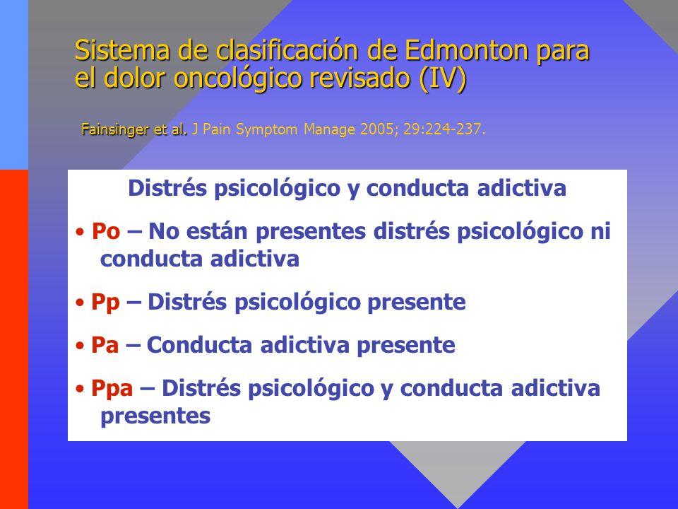 Sistema de clasificación de Edmonton para el dolor oncológico revisado (IV) Fainsinger et al. Sistema de clasificación de Edmonton para el dolor oncol