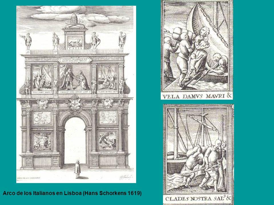 Arco de los Italianos en Lisboa (Hans Schorkens 1619)