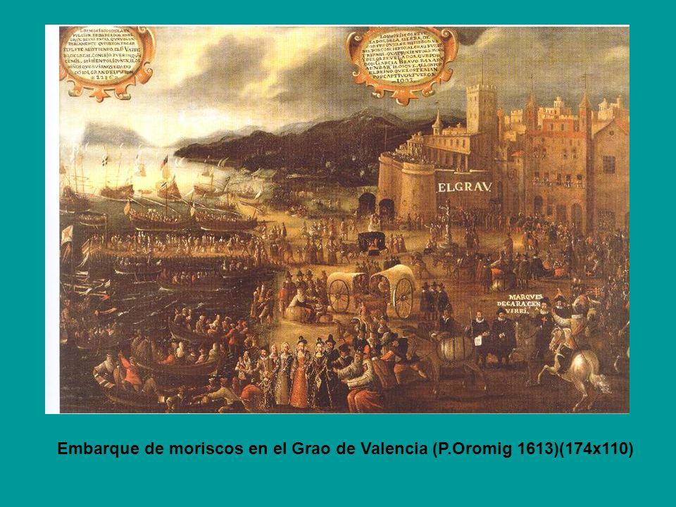 Rebelión de Moriscos en Muela de Cortes ( Detalle) Quántas pobres moriscas mal logradas por ver los suyos de defensa faltos con sus tiernos hijuelos abraçados se despeñaron de los montes altos.