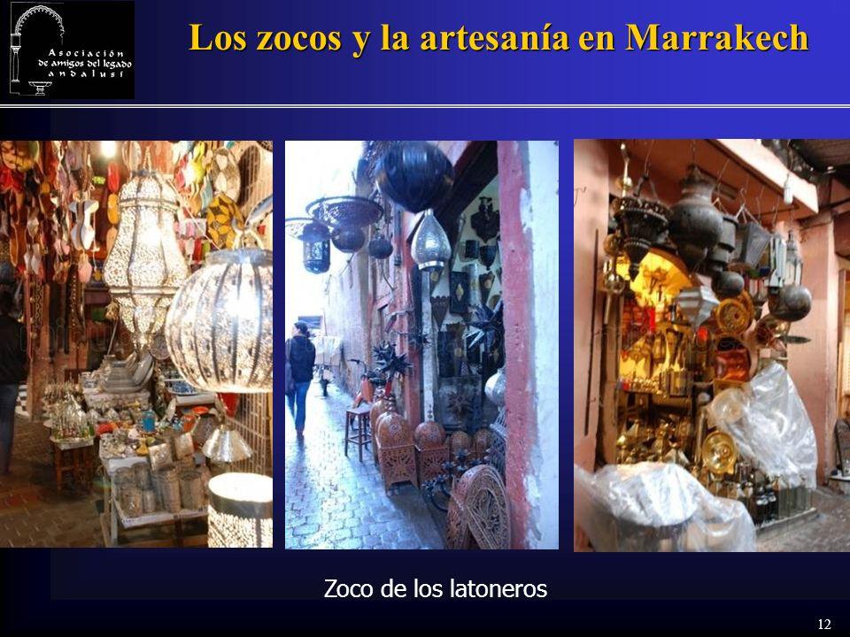 12 Los zocos y la artesanía en Marrakech Zoco de los latoneros