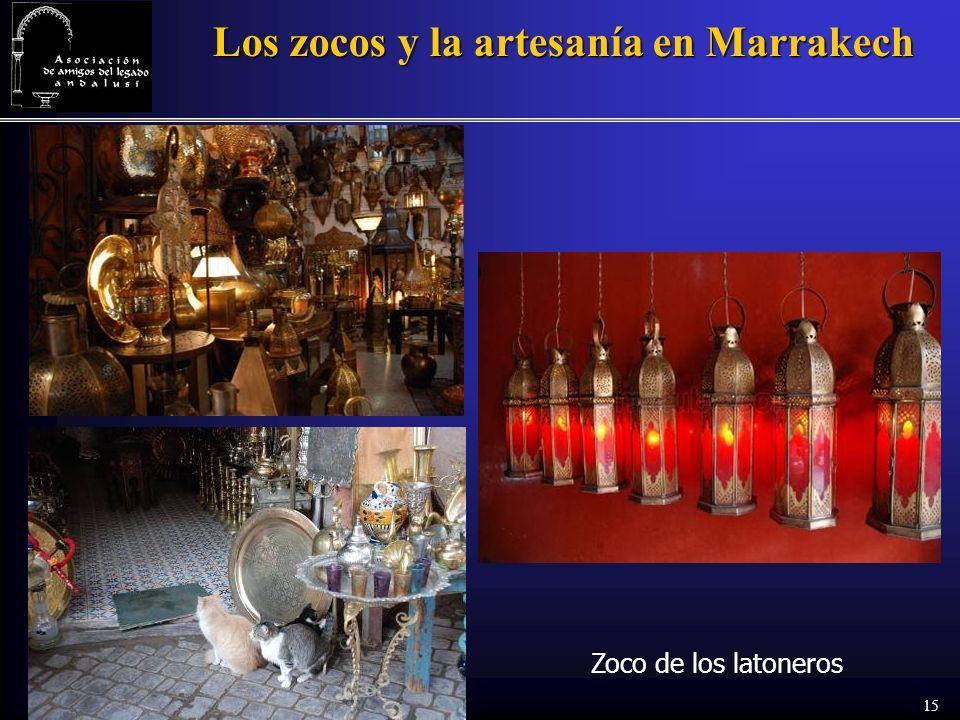 15 Los zocos y la artesanía en Marrakech Zoco de los latoneros