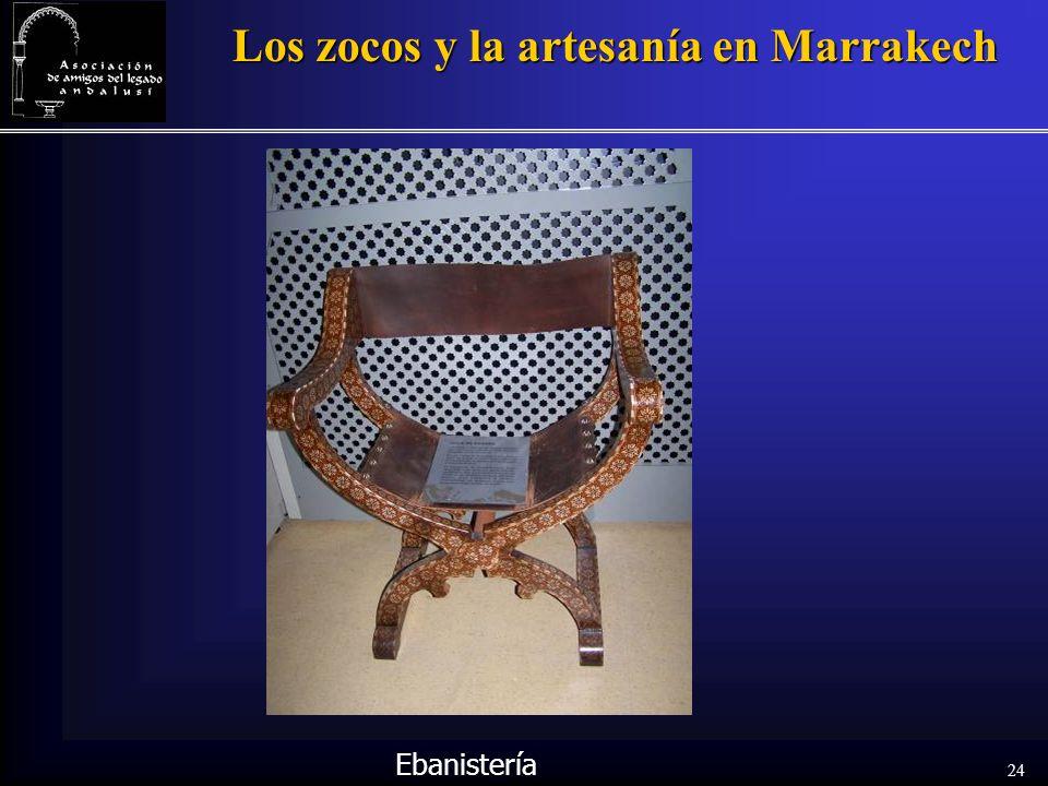 24 Los zocos y la artesanía en Marrakech Ebanistería