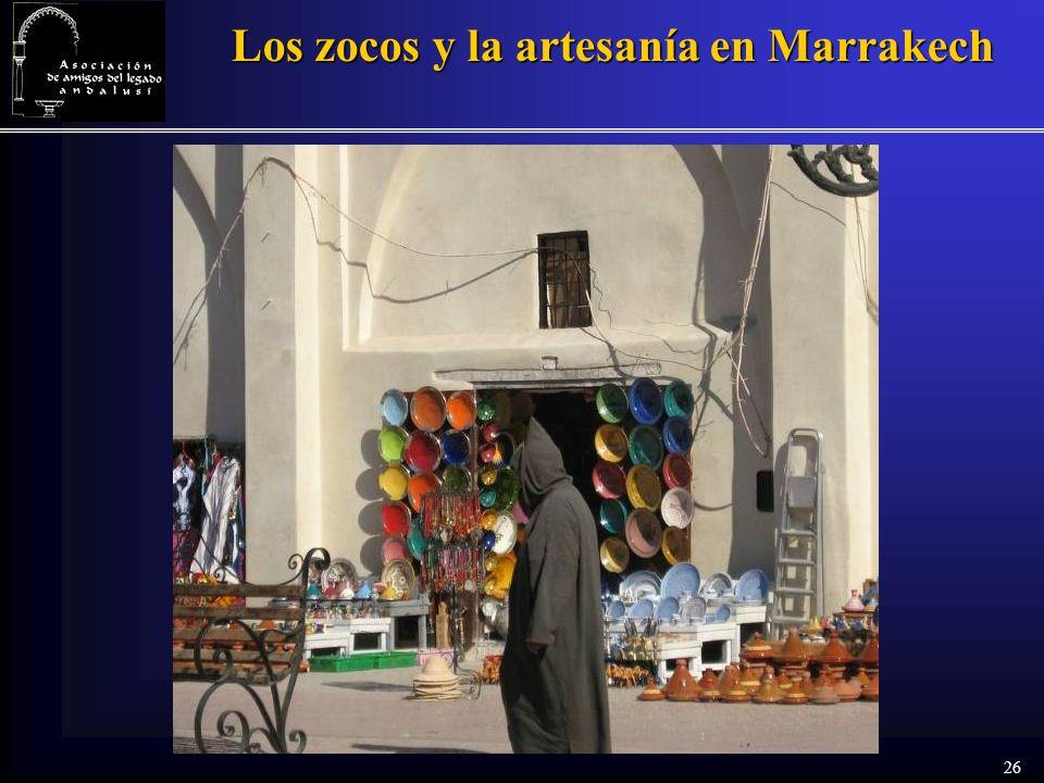 26 Los zocos y la artesanía en Marrakech
