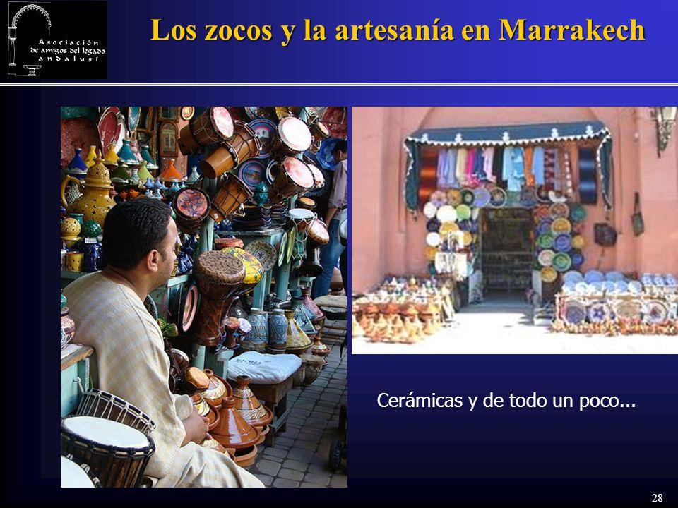 28 Los zocos y la artesanía en Marrakech Cerámicas y de todo un poco...