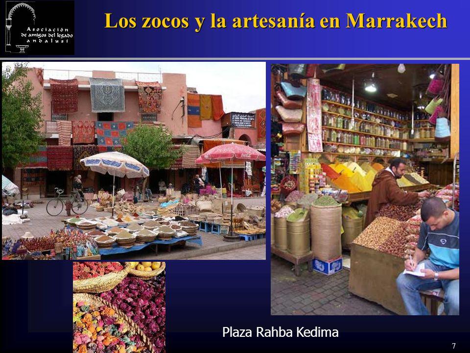 7 Los zocos y la artesanía en Marrakech Plaza Rahba Kedima
