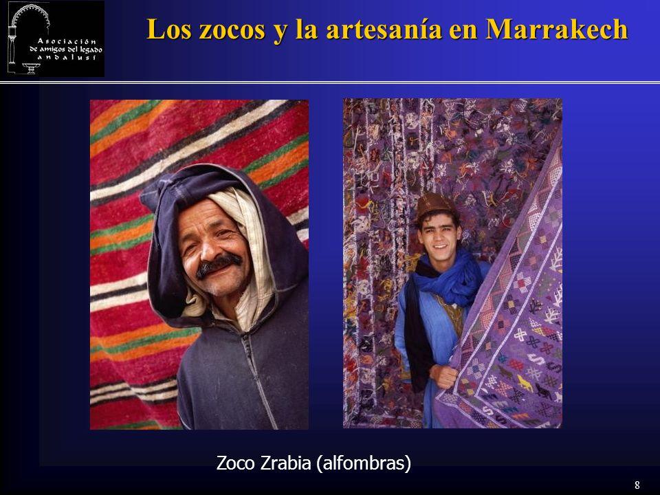 8 Los zocos y la artesanía en Marrakech Zoco Zrabia (alfombras)