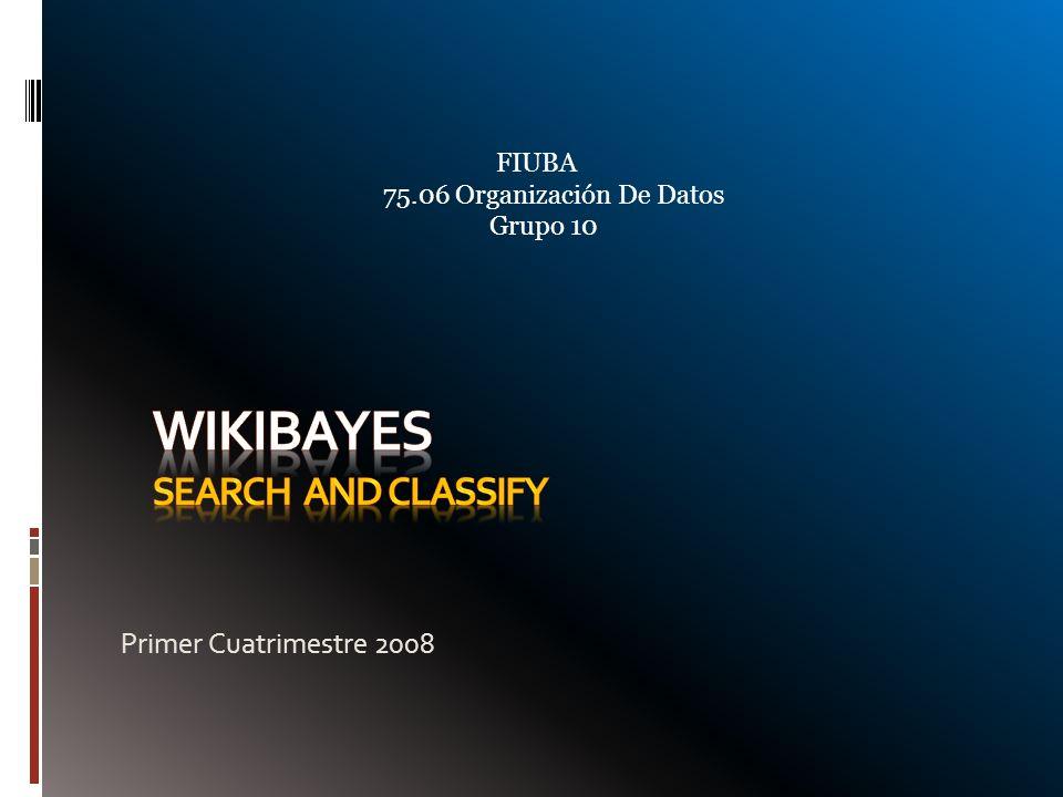 Contenido Qué es WikiBayes.