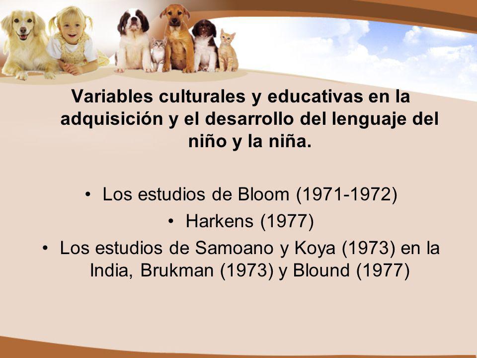 Variables culturales y educativas en la adquisición y el desarrollo del lenguaje del niño y la niña.