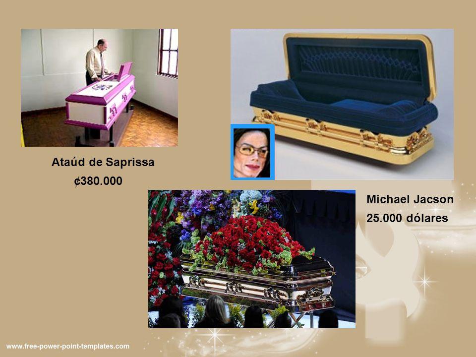 ¢380.000 Ataúd de Saprissa Michael Jacson 25.000 dólares